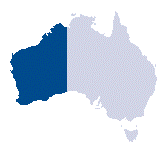 showing location on a map of Australia